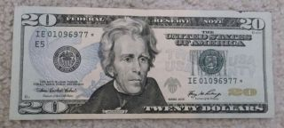 20* STAR NOTE RICHMOND E 5 REPLACEMENT TWENTY DOLLAR BILL SERIAL
