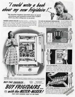 1941 Frigidaire Cold Wall Refrigerator Collectible Vintage Ad