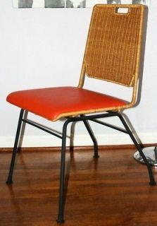 Vintage 1950s Mid Century Modern DANNY HO FONG Wicker Iron Indoor