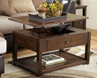 RECTANGULAR LIFT TOP WOOD COCKTAIL COFFEE TABLE LIVING ROOM FURNITURE