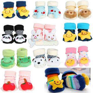 Newborn Baby Toddler Girl Boy non slip Socks Slipper Shoes Boots