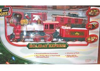 4pc TRAIN SET G Scale Winter Belle Sounds Battery New Bright Holiday