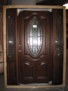 Solid Wood Teak Front Unit Pre hung &Finished TTK7350 GL02