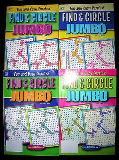 FIND & CIRCLE JUMBO WORD FIND PUZZLES Books SEEK SEARCH *NEW* Kappa