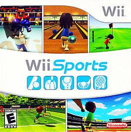 Wii Sports 5 in 1 Bowling Tennis Baseball Nintendo Wii COMPLETE Game