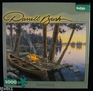 SONG CANOE DARRELL BUSH 1000 PCE BUFFALO JIGSAW PUZZLE WITH POSTER B 7
