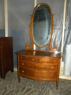 FREE SHIP Refinished Antique Princess Bedroom Dresser with Mirror