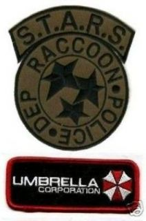 FANCY DRESS HALLOWEEN COSTUME PATCH Resident Evil STARS UMBRELLA CORP