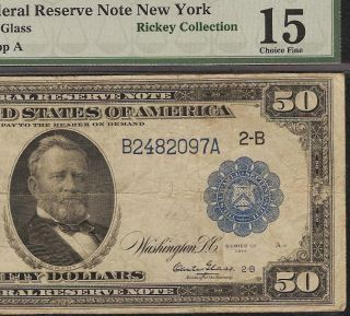 LARGE 1914 $50 DOLLAR BILL FEDERAL RESERVE NOTE Fr 1029 BURKE & GLASS