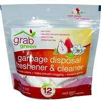 GrabGreen, Garbage Disposal Freshener & Cleaner, Red Pear with