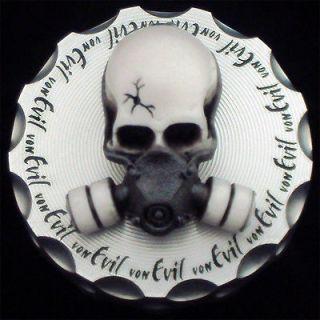 Von Evil 6061 Billet Aluminum Gas Mask Skull Gas Cap Yamaha Raptor 250
