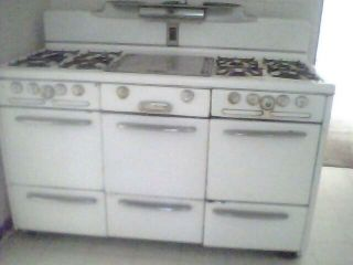 Vintage 8 Burner Gas Stove Roper Town & Country 60 40s 50s Antique