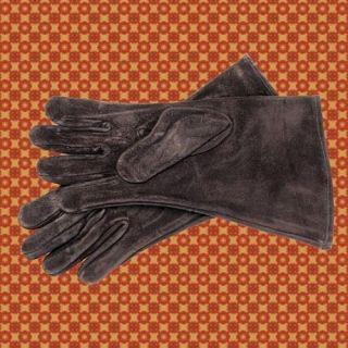 Black Suede Gauntlets Gloves Medieval Armor Costume