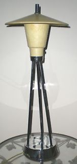 VTG.EAMES ERA, RETRO, MID CENTURY FIBERGLASS & CHROME TABLE LAMP