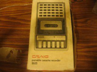 Craig Portable cassett recorder 2635