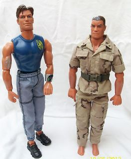 GI JOE/Max Steel Action Figures 1998 Mattel 2002 Lanard~Lot of 2