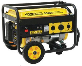 Champion 4000 wa Gas Porable Gasoline Generaor w/ wheel ki B46517