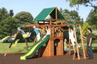 Playground Slide Backyard Swing Set Play Ground Monkey Bars Glider