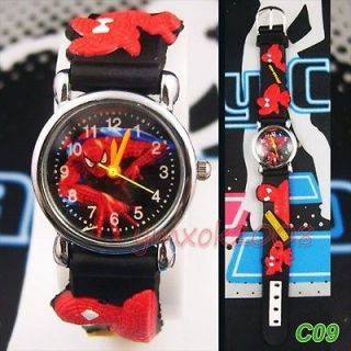 Man Cartoon Children Quartz Wrist Watch Party Birthday Xmas gift C10
