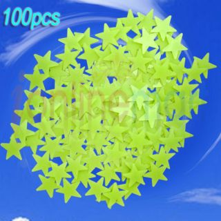 100X GLOW IN THE DARK STARS STICKERS BABY ROOM NURSERY