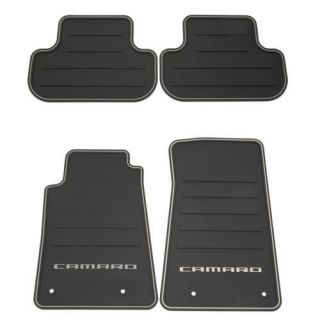 2010 2013 CAMARO ALL WEATHER RUBBER FLOOR MATS 22766717 GM OEM
