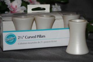 4pk 2 1/2 Curved Wilton Wedding Cake Decorating Pillars 658