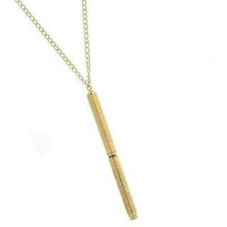 1960s Vintage Inspired Gold Tone Pen Necklace Mad Men 1928 Jewelry NEW