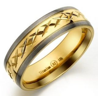 Gold Plated Titanium Two Colors Men Women Engagement Ring Size 12