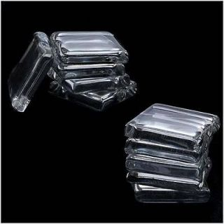 Clear Glass Jewelry Pendant Tiles 7/8 Inch Square (10)