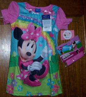 Disney Mickey Mouse Clubhouse Minnie Night Gown Hair Band 2 Pc Set
