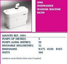 SANIFLO SANIVITE WASTE WATER PUMP 1004
