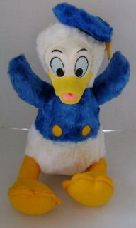 VINTAGE WALT DISNEY CHARACTERS DONALD DUCK PLUSH CALIFORNIA STUFFED