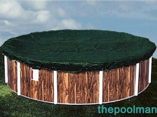 Heavy Duty Winter Swimming Pool Cover for 24 Round Above Ground Pools