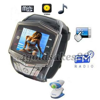 Unlocked GSM Mobile Wrist Watch Cell Phone 1.55 touch Hidden Camera