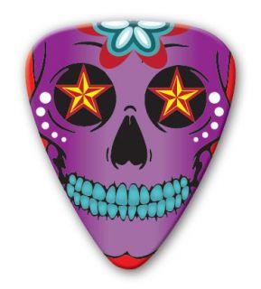 Purple Sugar Skull 25 GUITAR PICKS   PIC7160