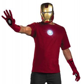 Adult Iron Man Instant Halloween Costume Mask Gloves Kit
