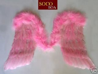 Large Pink Feather Marabou Angel Wings Photo Props Men Women L