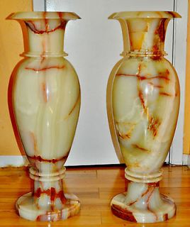 VASES PAIR OF ORIGINAL EXTRA LARGE HAND CRAFTED ELEGANCE 2FEET5.5Tall