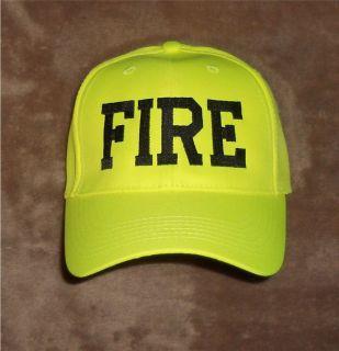 FIRE Hat Hi Viz Hi Vis Firefighter Fire Department Safety Yellow