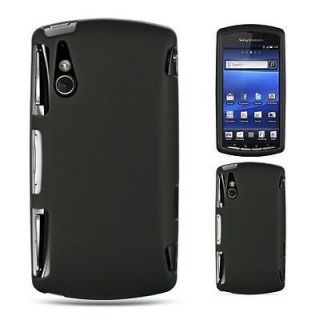 BLACK Hard Skin Cover for Sony Ericsson XPERIA PLAY 4G Protector Case
