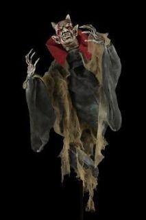 Bendable Demon Devil   4 Foot   Halloween Haunted House Prop   AM697