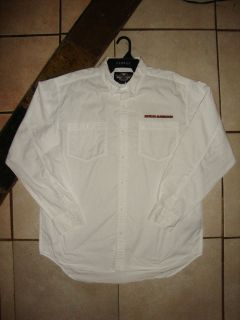 HARLEY DAVIDSON LONG SLEEVE DRESS SHIRT LARGE WITH TWO POCKETS L