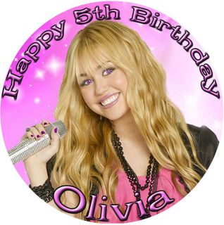 HANNAH MONTANA Round Edible CAKE Image Icing Topper