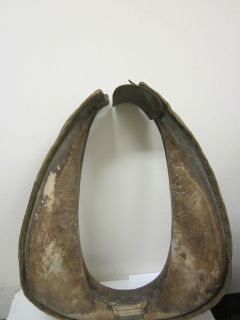 ANTIQUE MULE/HORSE HARNESS   BROWN LEATHER, 18 WIDE