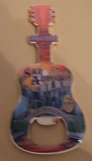 Hard Rock Cafe SAN ANTONIO Guitar Magnet Bottle Opener