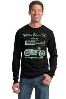 Johnson Motors T shirt Jersey UK Retro Vintage badge Cafe Racer
