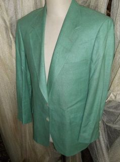D23 42S 100% raw SILK IRVINE BLAZER Sport Coat Jacket mens light green