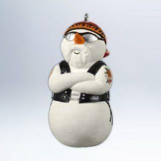 Hallmark 2012 Snowy Rider Harley Davidson Snowman Christmas Ornament