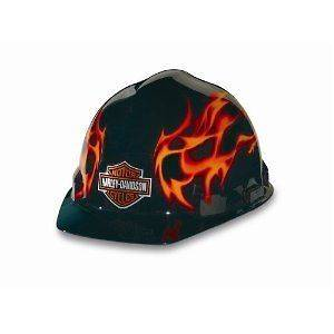 Harley Davidson Flames Hard Hat  2 Day Ship