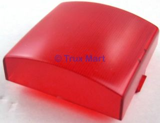 dome light lens square red plastic 3 for Peterbilt Kenworth